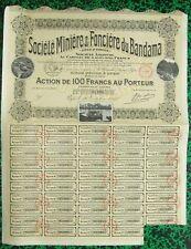 Côte d'Ivoire & Dépt 69 - Bel Encadrement d'une Ste Minière (Mines d'Or) de 1920