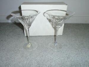 Wedgwood Vera Wang Duchesse Martini Pair 2 Glasses New In Box