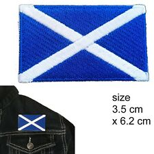 Scotland flag iron on patch - Saltire Saint Andrew's Cross flags iron-on patches
