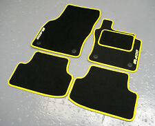 Car Mats in Black/Yellow Trim to fit VW Golf Mk7 R400 RHD (2013 on) + R400 Logos