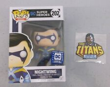 Funko Nightwing Pop + Cyborg Patch New Teen Titans Dc Legion Of Collectors New