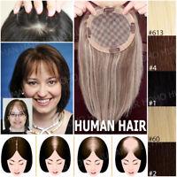 150% Clip In European Human Hair Hairpiece Women Topper Top Pieces Toupee Weaves
