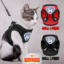 More details for small dog cat puppy harness+lead pet mesh vest adjustable walking leash safety