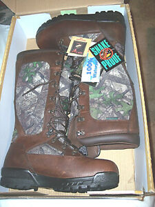 Mens Snake Proof Boots Waterproof Boots Camo Hunting Boots Leather Boots 11 Reg
