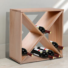 Wooden Wine Rack Tabletop 24 Bottle Holder Storage Cube Stand Champagne Stack