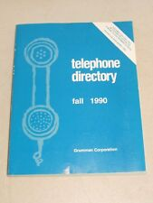RARE! Grumman Corporation Fall 1990 Telephone Directory