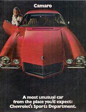 Chevrolet Camaro 1970 USA Market Sales Brochure Rally Sport SS Z28