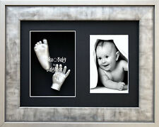 New Baby Girl Boy Gift Unisex Hand Foot 3D Prints Casting Kit Silver Pewter Grey