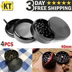 Tobacco Herb Grinder 4-Piece Metal Small Hand Crusher Mill Magnetic Top Black US photo