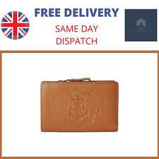 Genuine Lauren Ralph Lauren Huntley Compact Leather Womens Wallet - Tan