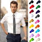 Casual Solid Plain Classic Skinny 100% New Silk Jacquard Woven Necktie Men's Tie