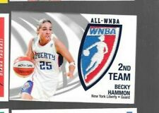 Becky Hammon P10  5/250 2006 WNBA patch card relic All-Star