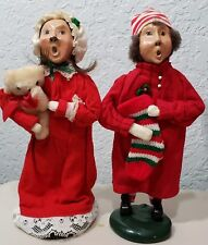 Byers Choice Carolers Pajamas Boy and Girl 1987 Signed