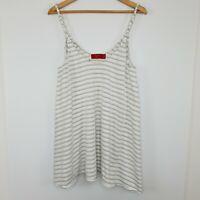 Tigerlily Women's Cami Stripe White Gold Tank Top Size 12