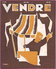 ▬►MARKETING PUBLICITÉ  -- VENDRE N° 256 (JUIN 1951) --  COVER LE SCANFF