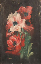 1910 Impressionist Floral Oil Painting Signed