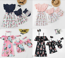 Mother Daughter Dresses Floral Dress Baby Girl Romper Family Matching Clothes