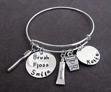 Dental Hygienist Bangle Bracelet, Dentist Graduation Gift,Hygienist Gift Jewelry