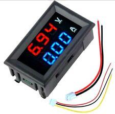 Mini Digital Voltmeter Ammeter Dc 100v 10a Voltmeter Current Meter Tester Blue