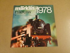 CATALOGUS MARKLIN 877/3 / MÄRKLIN NIEUW 1978 ( NEDERLANDSTALIG )
