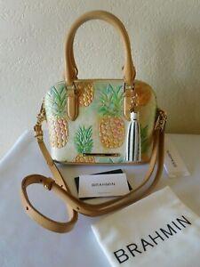 New BRAHMIN Dottie Multi Pompano MINI Satchel, Crossbody Handbag, Purse