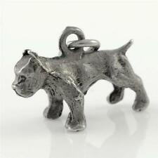 Vintage Sterling Silver Bulldog Charm for Bracelet or Pendant 925 2g R-139
