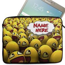 """Personalised Tablet Case EMOJI Neoprene Sleeve Cover 7"""" 8"""" 9"""" 10"""" 11"""" ST847"""