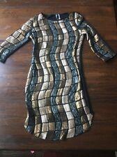 BR34 J Uptown USA Metallic Sequined Dress Size Medium