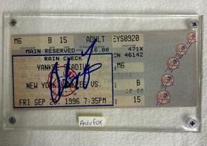 NY Yankees Stadium Ticket Signed by ANDY FOX