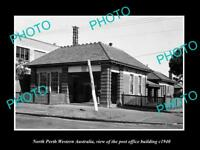 OLD LARGE HISTORIC PHOTO OF NORTH PERTH WESTERN AUSTRALIA, THE POST OFFICE c1940