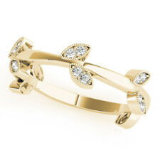 Round Yellow Gold Eternity Band 7 8 0.20 Ct Real Diamond Wedding Ring Solid 14K