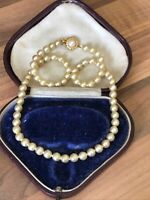 "Vintage 17.5"" Faux PEARL Single Strand NECKLACE Choker"