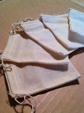 Organic Cotton Muslin Drawstring Bags Sachets Bulk Wholesale Lots / Prices