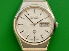 Vintage King Seiko Twin Quartz Original Bracelet Men's Watch  9723-8050 QFB040