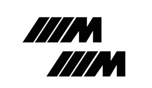 M BMW MPOWER M1 M2 M3 335I sticker decal pack of two 4'' choose colors