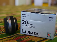 Panasonic Lumix G 20mm f/1.7 Aspherical Pancake Lens w Focus Ring!