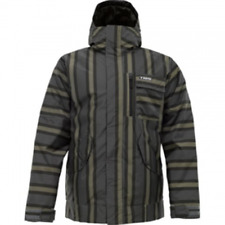Burton TWC Such A Deal Snowboard Jacket (L) Flint Stripe