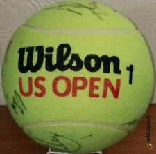 """Wilson US OPEN 1 Large Jumbo Tennis Ball Signed By Many Players 9"""""""