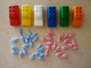 The Game of Life Board Game Replacement Pcs (6) Cars (40) People Pegs