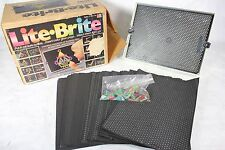 Vintage 1986 Lite Bright w/ Pegs & Many Unused Sheets - My Little Pony and More!
