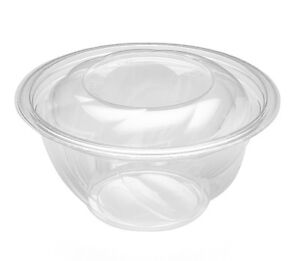 Pactiv 732PSSL, 7-Inch Diameter 32 Oz. Clear PET Combo, Swirl Bowls with Swirl L