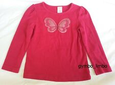 Gymboree Outlet Butterfly Girl 5 Fuchsia Pink Glitter Graphic Top SHIRT