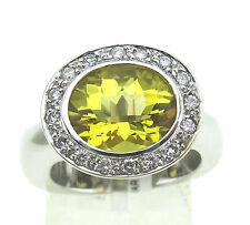 Ring, Unikat, 750 / 18k Gold, Beryll ca. 6,0 ct., mit Brillanten Handarbeit