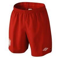 BNWT Umbro England Kit Junior Boys Kids Football Red Goalkeeper Shorts 2012-2013