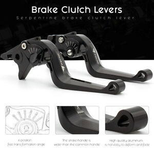 FXCNC for  SPEED TRIPLE TIGER 800 3D Short Camber Brake Clutch Lever Set