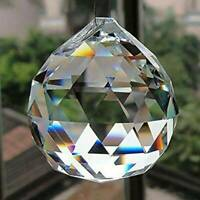50MM FENG SHUI HANGING CRYSTAL BALL Sphere Prism Rainbow Suncatcher DIY