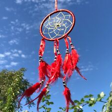 New Red Ribbon Dream Catcher Native American Wall Hanging Mobile