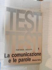TEST LA COMUNICAZIONE E LE PAROLE Vol I Fontanesi Ugolotti Minerva Italica 1985