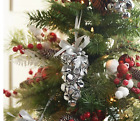 """Set of (6) 7"""" Metal Jingle Bell Ornaments by Valerie **Color Silver,"""