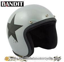 Casco Bandit Jet Star Silver Cafè Racer